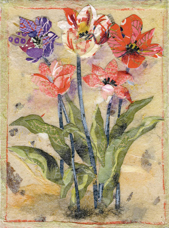 Limited Edition Prints Poster featuring the painting Tulips by Nira Schwartz