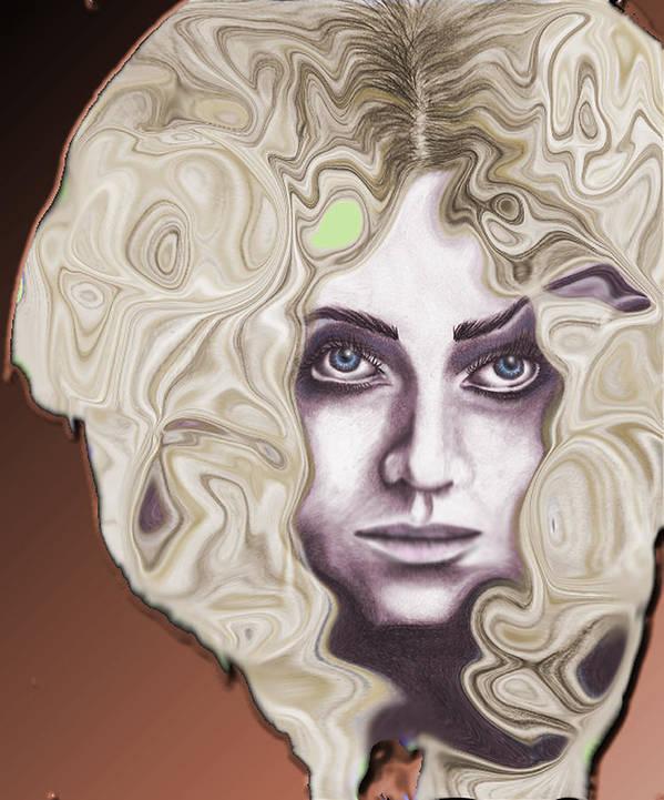 Woman Poster featuring the digital art Turbulence by Samantha Kulchar