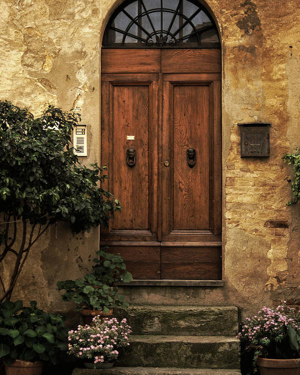 Tuscan Poster featuring the photograph Tuscan Entrance by Andrew Soundarajan