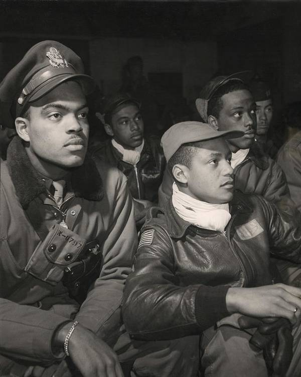 History Poster featuring the photograph Tuskegee Airmen Of The 332nd Fighter by Everett