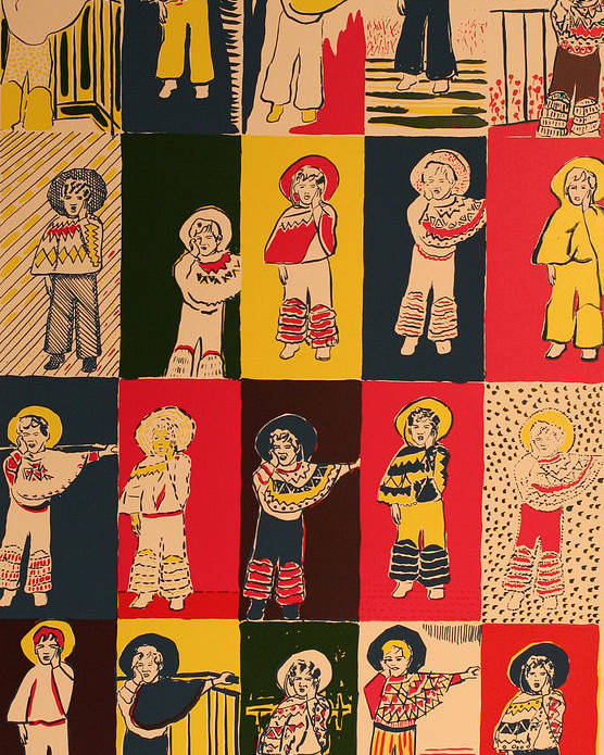 Poster featuring the painting Twenty Little Mexicans by Biagio Civale