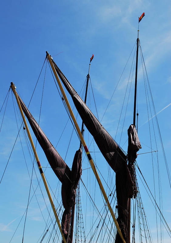Sailing Ships Poster featuring the photograph Twin Mast by Terence Davis