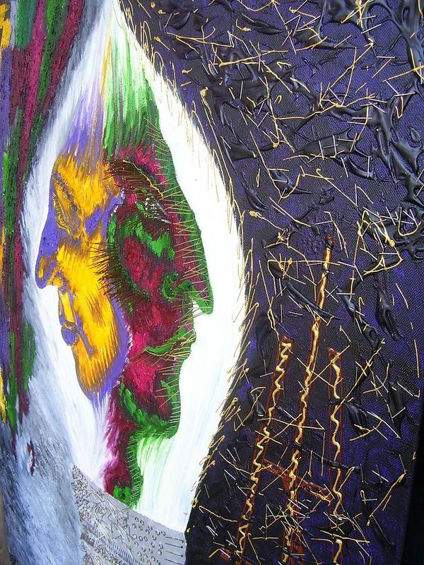 Art Poster featuring the painting Two Sides Of Art -fragment by Svetlana Vinokurtsev
