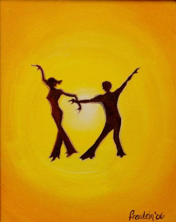 Contemporary Poster featuring the painting Two To Tango by Glory Fraulein Wolfe