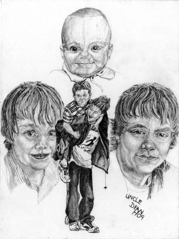 Kids Poster featuring the drawing Tyler by Dean Herbert