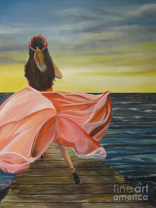 Sunset Poster featuring the painting Uhane O Ka Welo by Kris Crollard