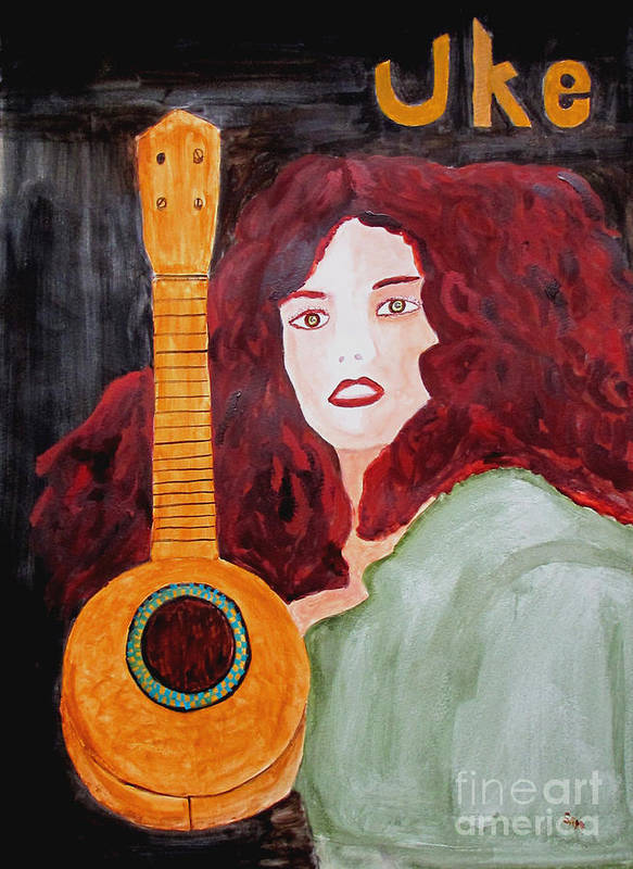 Watercolor Poster featuring the painting Uke by Sandy McIntire