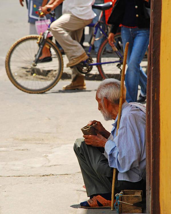 Beggar Poster featuring the photograph Un Peso Por Favor by Skip Hunt