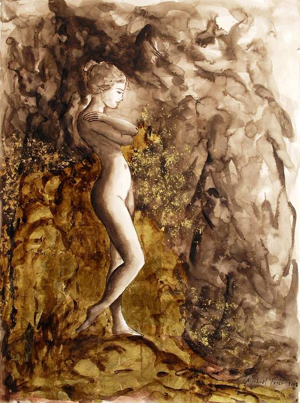 Nude Poster featuring the painting Uncharted Territory by Michael Price