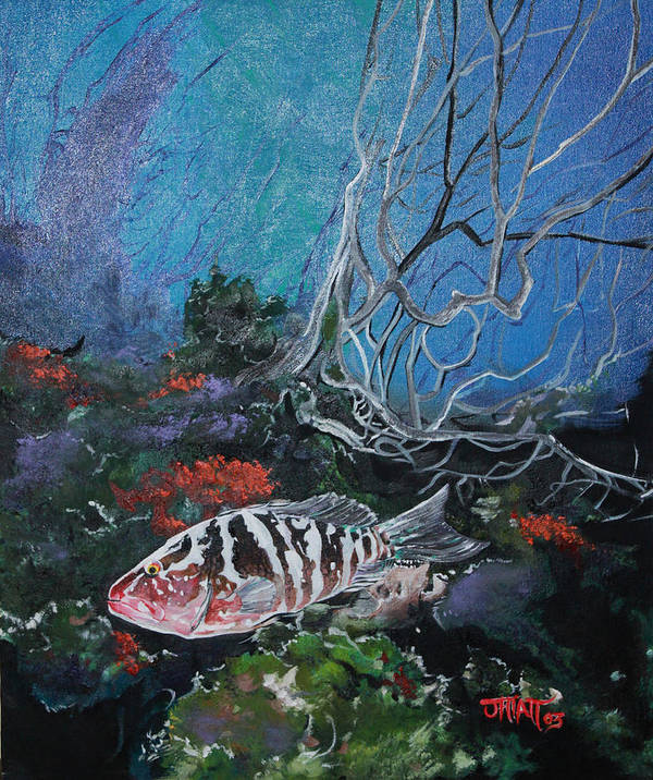 Fish Poster featuring the painting Under Water Adventure by Justin Hiatt