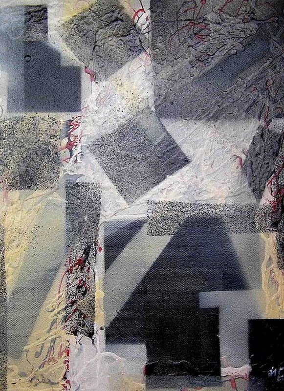 Abstract Poster featuring the painting undercover N2 by Evguenia Men