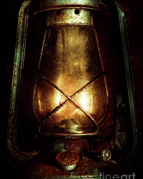 Mining Poster featuring the photograph Underground Mining Lamp by Jorgo Photography - Wall Art Gallery
