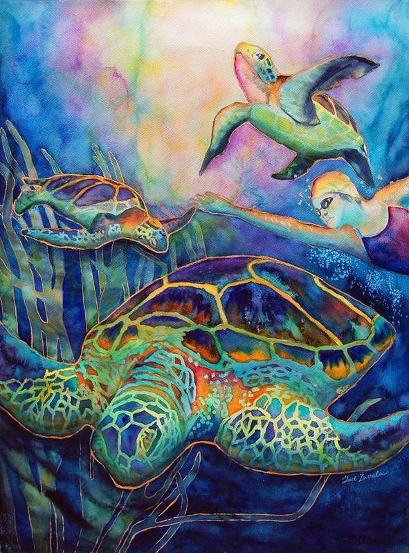 Animal Poster featuring the painting Undersea Adventure by Gail Zavala