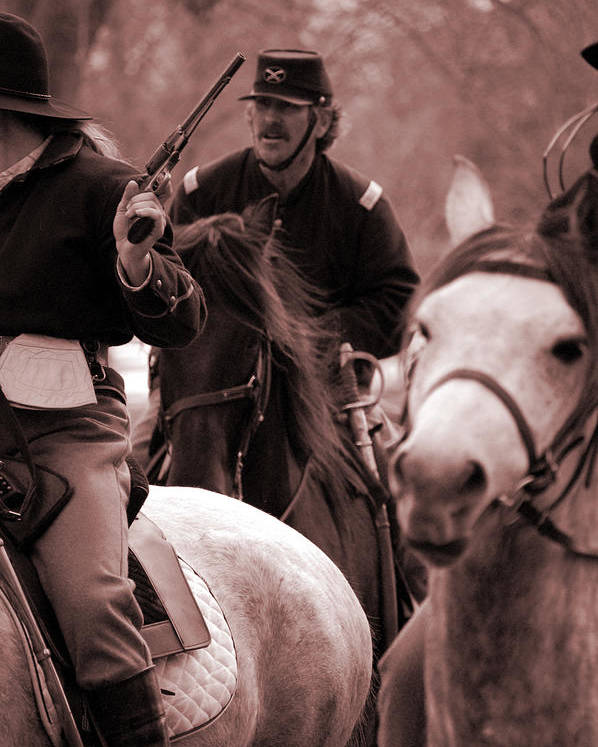 Civil War Poster featuring the photograph Union Cavalry by Jame Hayes