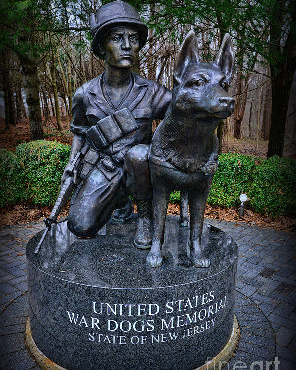 Paul Ward Poster featuring the photograph United States War Dog Memorial by Paul Ward