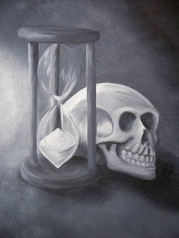 Skull Poster featuring the painting Universal Constants by Ashley Patterson