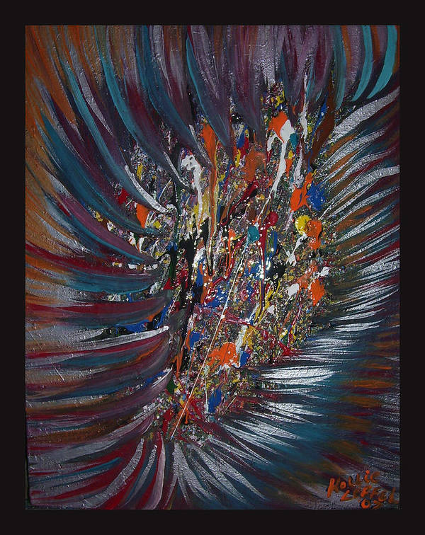 Abstract Poster featuring the painting Untitled Abstract by Hollie Leffel