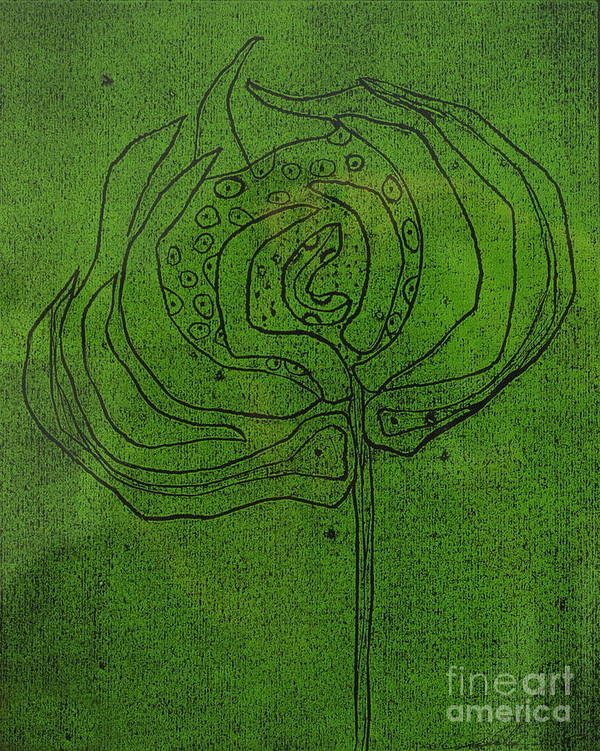 Green Poster featuring the painting Untitled by Angela Dickerson