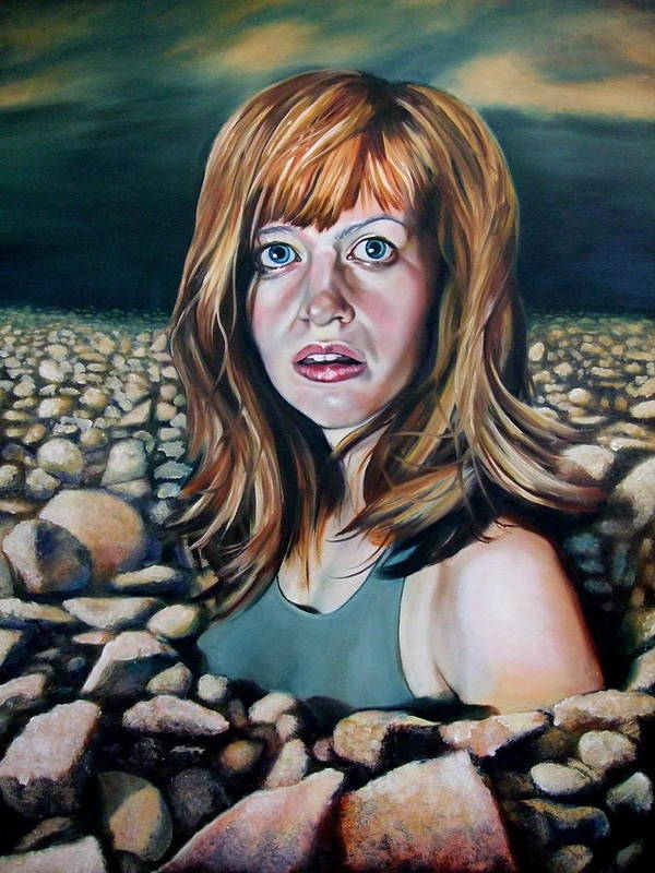 Portrait Poster featuring the painting Untitled by Chris Slaymaker
