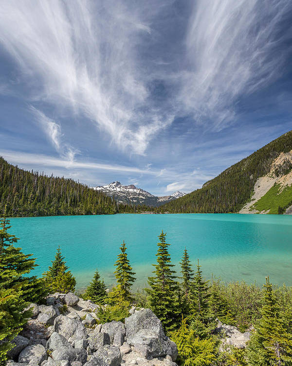 Matier Poster featuring the photograph Upper Joffre Lake B.c Canada by Pierre Leclerc Photography