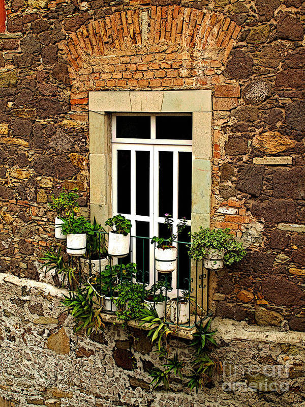 Mexicolors.com Poster featuring the photograph Upper Window by Mexicolors Art Photography