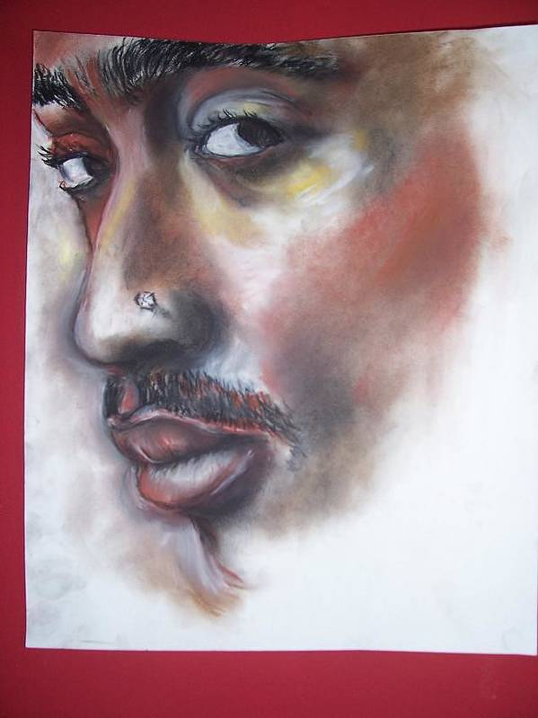 Tupac Shakur Poster featuring the print Urban Poet by Darryl Hines