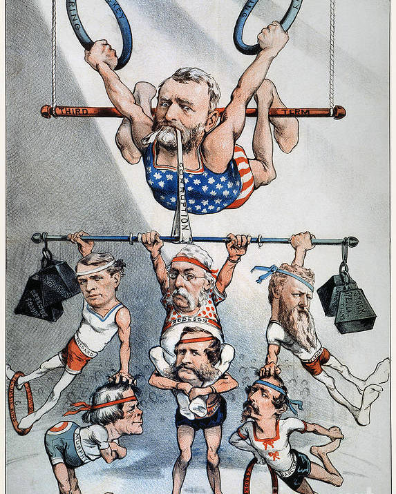 1880 Poster featuring the photograph U.s. Grant Cartoon, 1880 by Granger