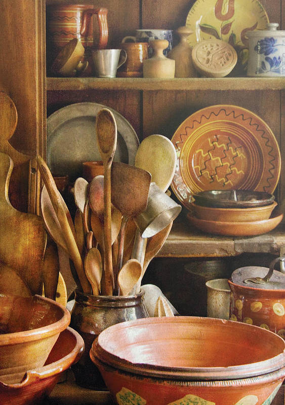 Hdr Poster featuring the photograph Utensils - Remembering Momma by Mike Savad
