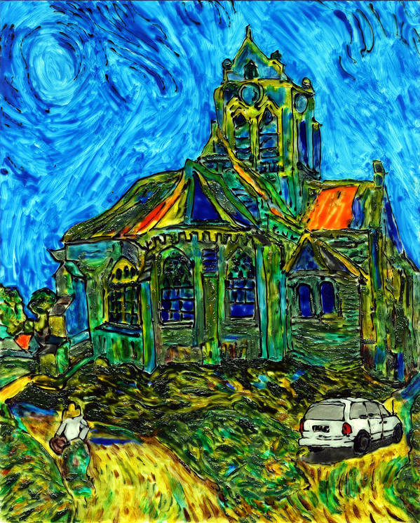 Van Gogh Poster featuring the painting Van Goes To Auvers by Phil Strang