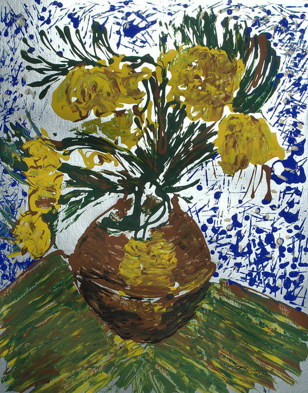 Flowers Poster featuring the painting Van Gogh by J R Seymour
