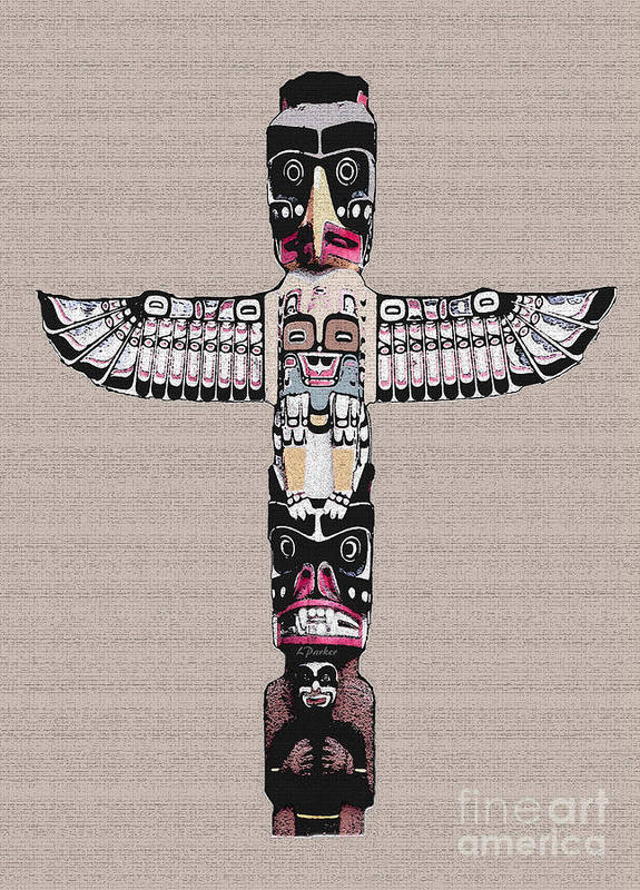 Eskimo Poster featuring the photograph Vancouver Totem - 4 by Linda Parker