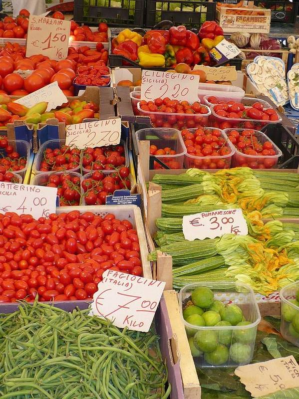 European Markets Poster featuring the photograph Vegetables At Italian Market by Carol Groenen