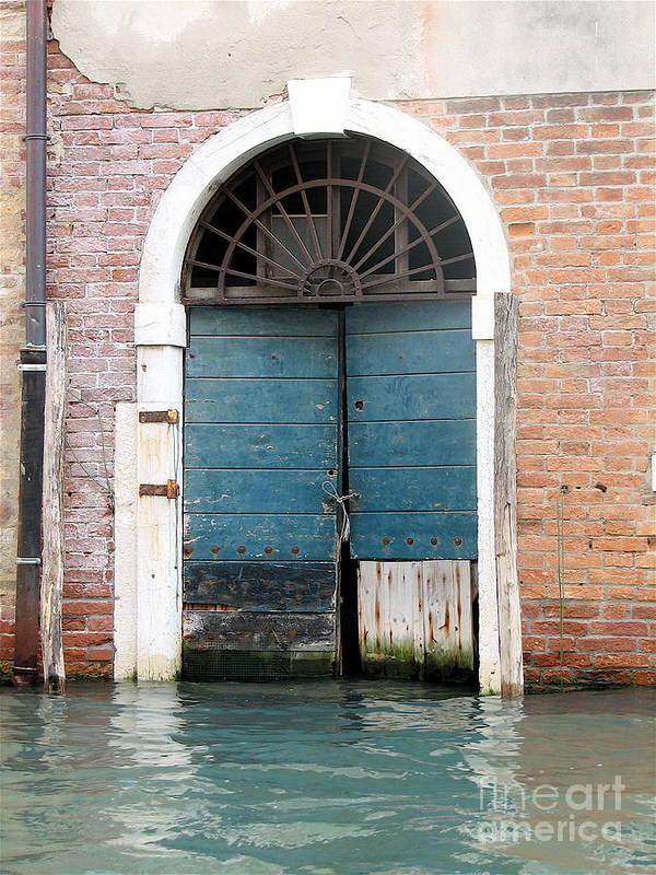 Angelica Dichiara Paintings Poster featuring the photograph Venetian Door by Italian Art