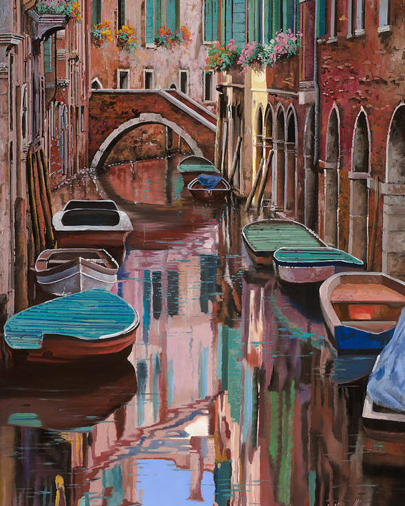 Venice Poster featuring the painting Venezia A Colori by Guido Borelli