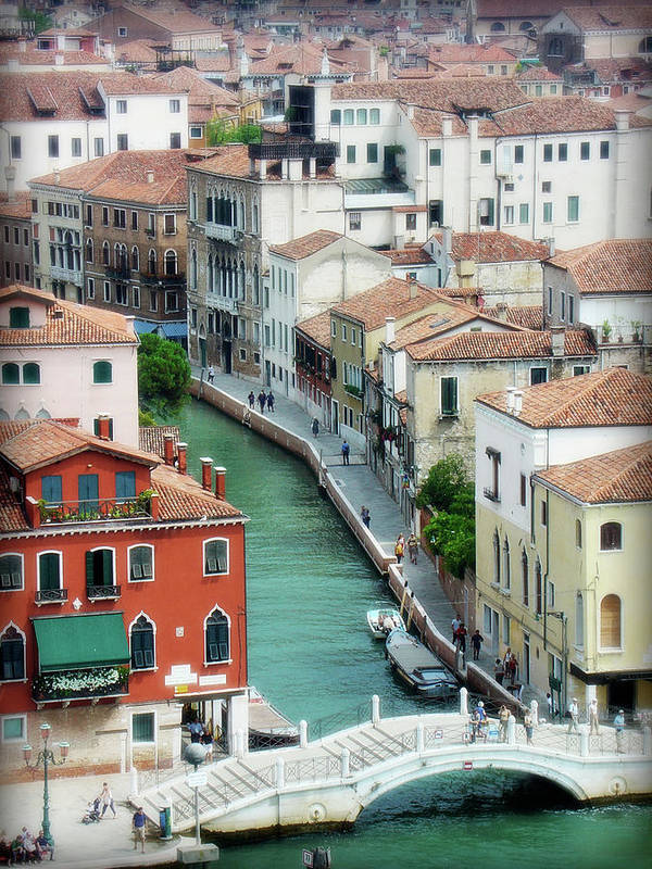 Venice Poster featuring the photograph Venice City Of Canals by Julie Palencia
