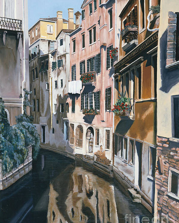 Venice Poster featuring the painting Venice by Jiji Lee