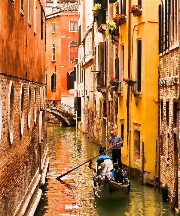 Venice Poster featuring the photograph Venice Passage by Mick Burkey