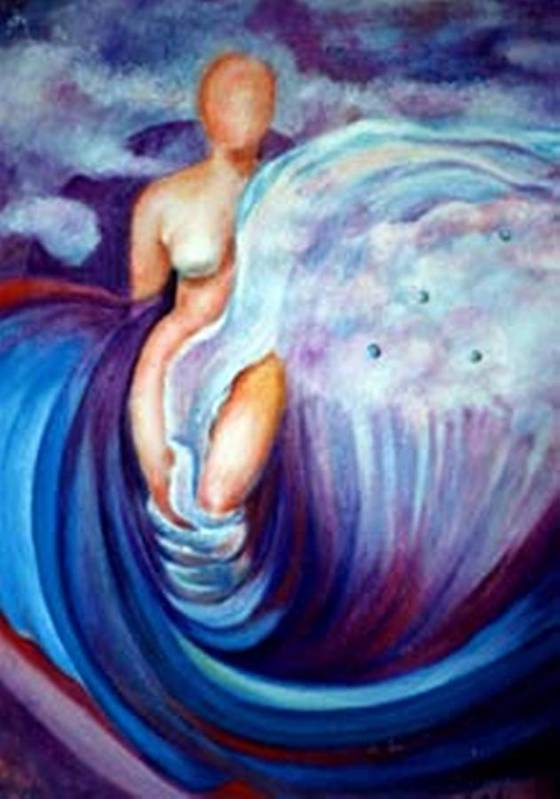 Surreal Artwork Poster featuring the painting Venus by Jordana Sands
