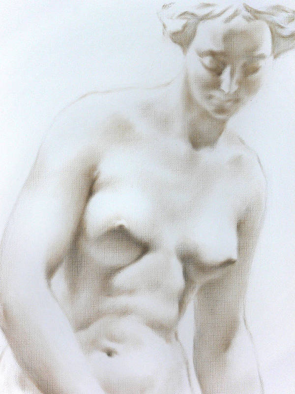 Woman Poster featuring the painting Venus1c by Valeriy Mavlo