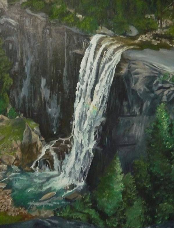 Vernal Falls Poster featuring the painting Vernal by Travis Day
