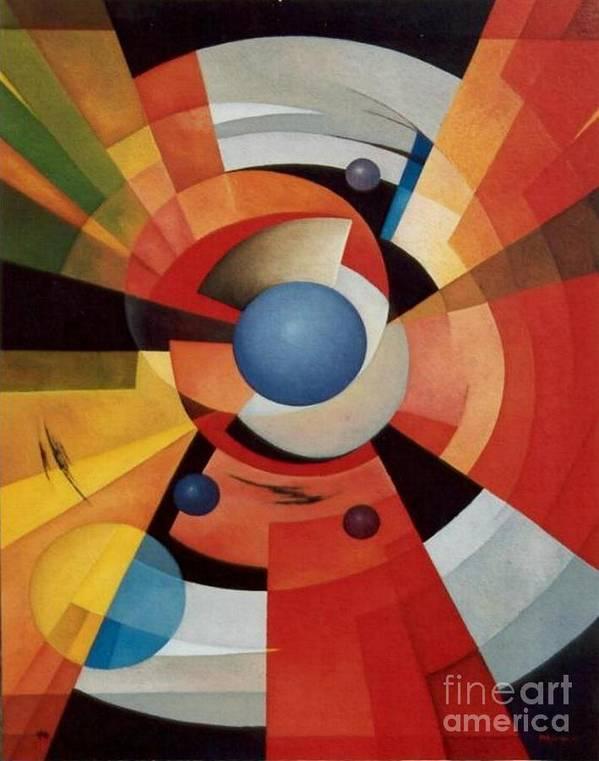 Abstract Poster featuring the painting Vertigo by Alberto DAssumpcao