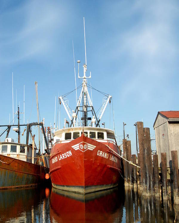 Commercial Fishing Boats Poster featuring the photograph Vessel 57 by Joyce StJames