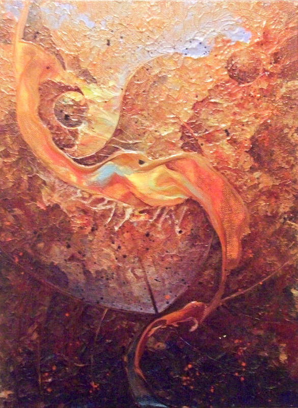 Abstract Paintings Poster featuring the painting Vestigium by Fred Wellner