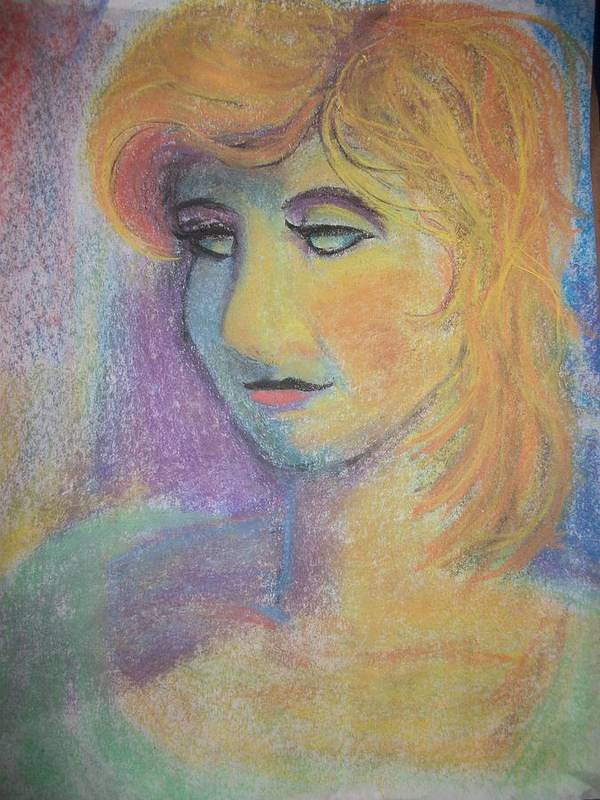 Pastel Poster featuring the drawing Vibrant by Adam Davis