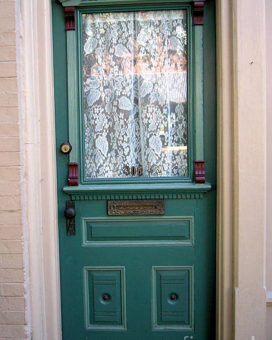 Door Poster featuring the photograph Victorian Door by Barbara Oberholtzer