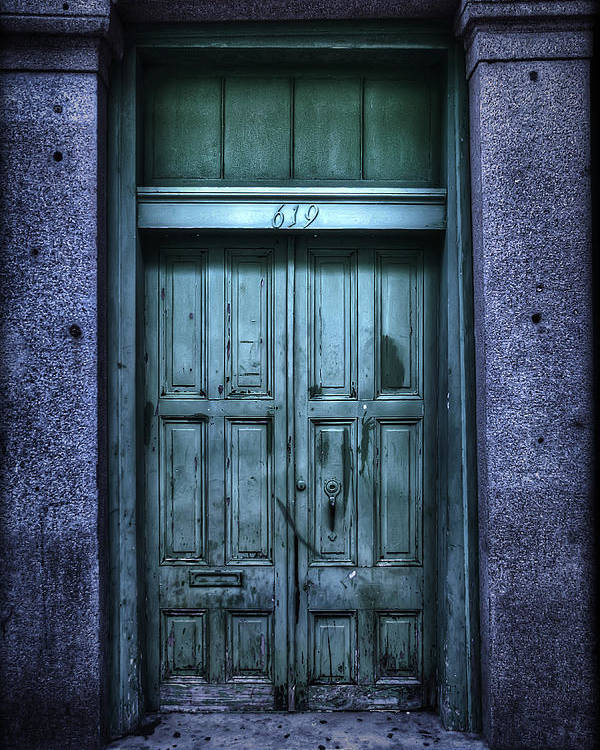 Nola Poster featuring the photograph Vieux Carre' Doorway At Night by Tammy Wetzel
