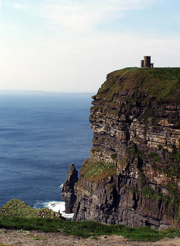Irish Poster featuring the photograph View Of Aran Islands And Cliffs Of Moher County Clare Ireland by Teresa Mucha