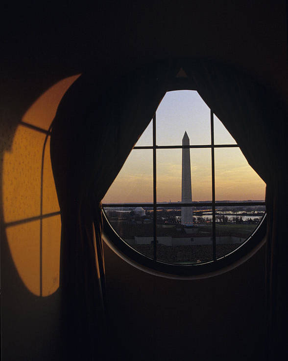 Americana Poster featuring the photograph View Of The Washington Monument by Kenneth Garrett