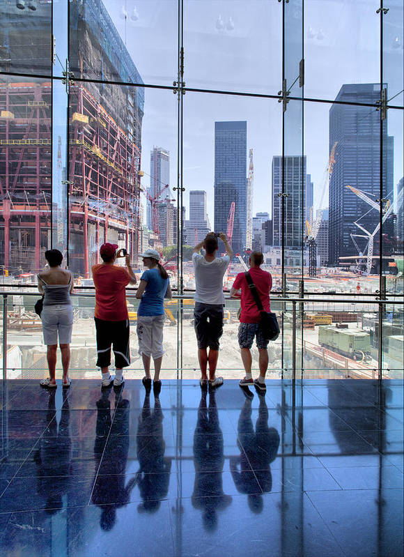 Ground Zero Poster featuring the photograph Viewing Ground Zero by Robert Ullmann