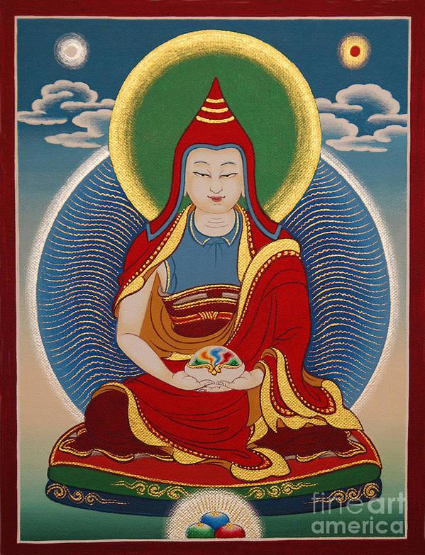Thangka Poster featuring the painting Vimalamitra Vidyadhara by Sergey Noskov
